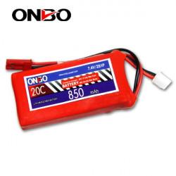 Batería Lipo 7.4v 850mAh 20C 2S RC