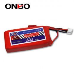 Batería Lipo 7.4v 1600mAh 25C 2S Conector Bec