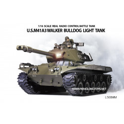 Tanque M41 A3 Walker Bulldog RC escala 1/16 2.4Ghz
