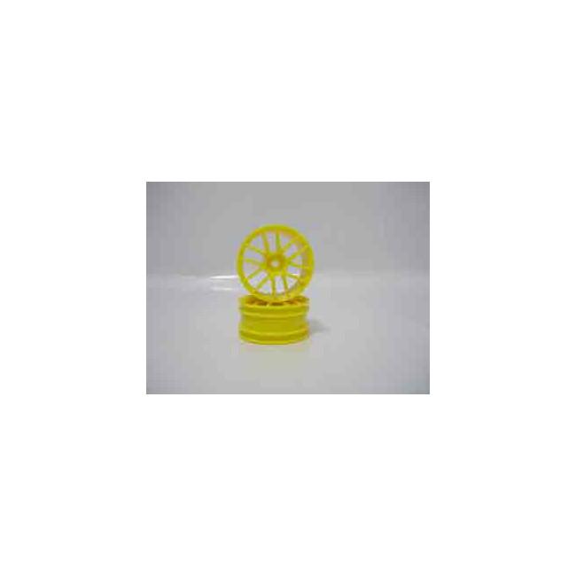 Set Llantas traseras buggy 1/10 amarillas