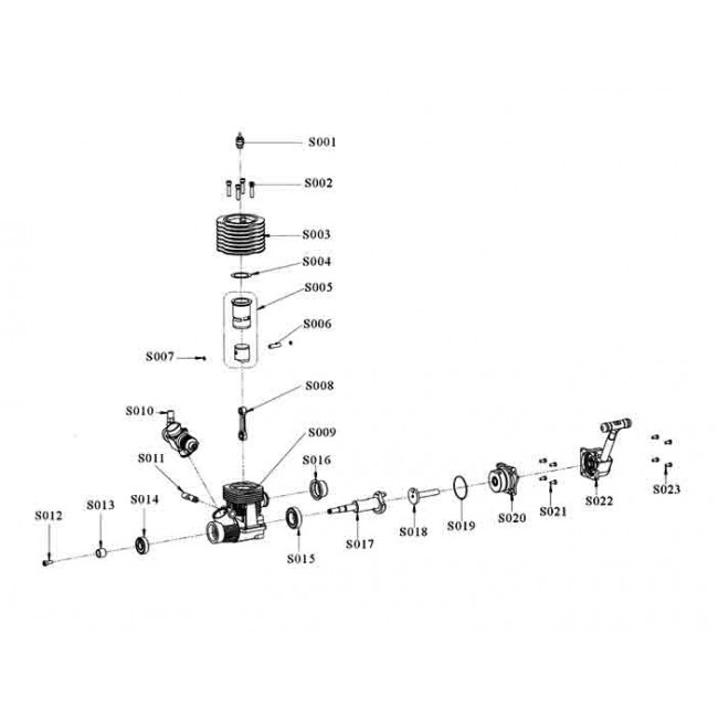 Biela motor Vertex 21CXP