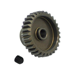 PIÑON MOTOR 48 PITCH 28T ALU7075 EJE 3.17MM