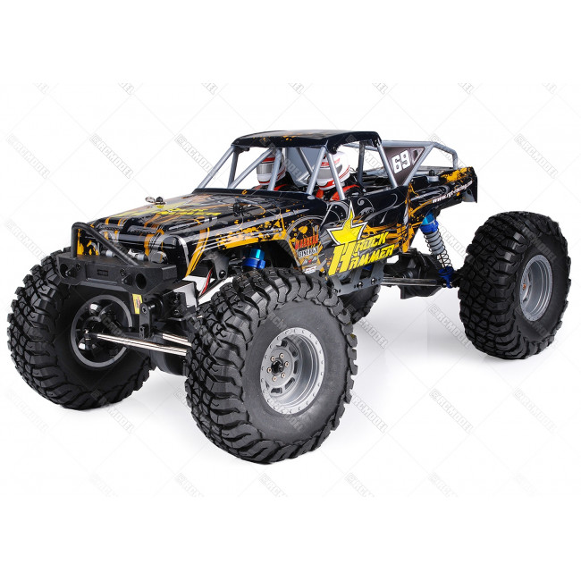 COCHE RC ROCK HAMMER PRO BRUSHLESS+LIPO+60A RTR AMAMARILLO