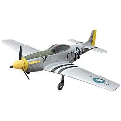 AVIÓN RC MUSTANG P-51 V2 PLATEADO DYNAM VERSIÓN PNP 1200MM