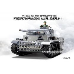 Heng Long - Tanque RC Panzerkampfwagen III escala 1/16 - HNL3848-1