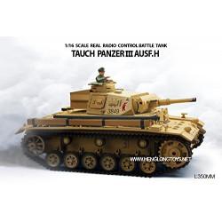Heng Long - Tanque RC Tauch Panzer III AUSF.H escala 1:16 - HNL3849-1