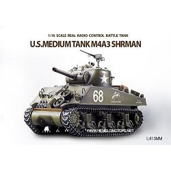 Heng Long - Tanque RC U.S.M4A3 Sherman Tank escala 1/16 - HNL3898-1