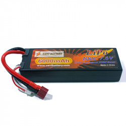 BATERÍA LIPO VANT BATTERY 7.6V 6000MHA 100C HI VOLTAGE ALTA DESCARGA CONECTOR TDEAN