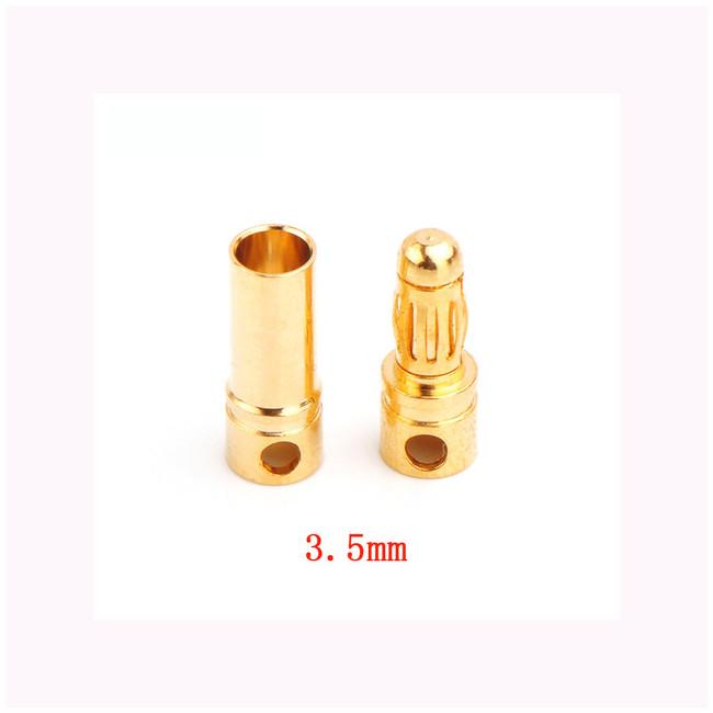 Conector oro tipo banana 3,5 mm Macho y Hembra
