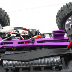 BRONTOSAURUS COCHE RC HSP 4WD TRUCK R.T.R. NARANJA Y PLATA