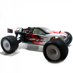 COCHE BRUSHLESS VRX-1E TRUGGY 1/8 MOTOR 3674 ESC 120 AMPERIOS + 14,8V LIPO RTR ROJO