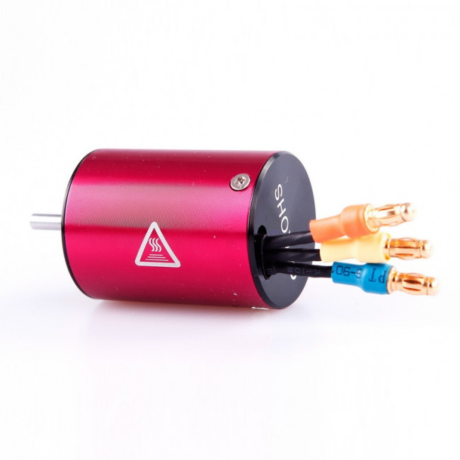 MOTOR BRUSHLESS 380 6.5T 4500KV 4 POLOS EJE 3.17 LC RACING L6048