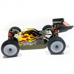 COCHE BRUSHLESS BUGGY 1/14 LC RACING EMB-1H RTR LIPO VERSION (7,4V) AMARILLO NEGRO