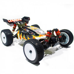 COCHE BUGGY 1/14 EMB-1L LC RACING RTR C/ESCOBILLAS LIPO VERSION (7,4V) NEGRO Y BLANCO
