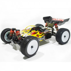COCHE BUGGY 1/14 EMB-1L LC RACING RTR C/ESCOBILLAS LIPO VERSION (7,4V) AMARARILLO Y NEGRO