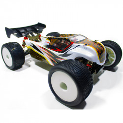 COCHE BRUSHLESS TRUGGY 1/14 EMB-TGH LC RACING RTR LIPO VERSION (7,4V) GRIS