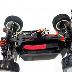 COCHE BUGGY 1/14 EMB-1L LC RACING RTR C/ESCOBILLAS LIPO VERSION (7,4V) NEGRO Y BLANCO