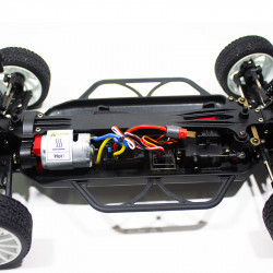 COCHE RC RALLY 1/14 EMB-WRCL LC RACING RTR C/ESCOBILLAS LIPO VERSION (7,4V) NEGRO 10