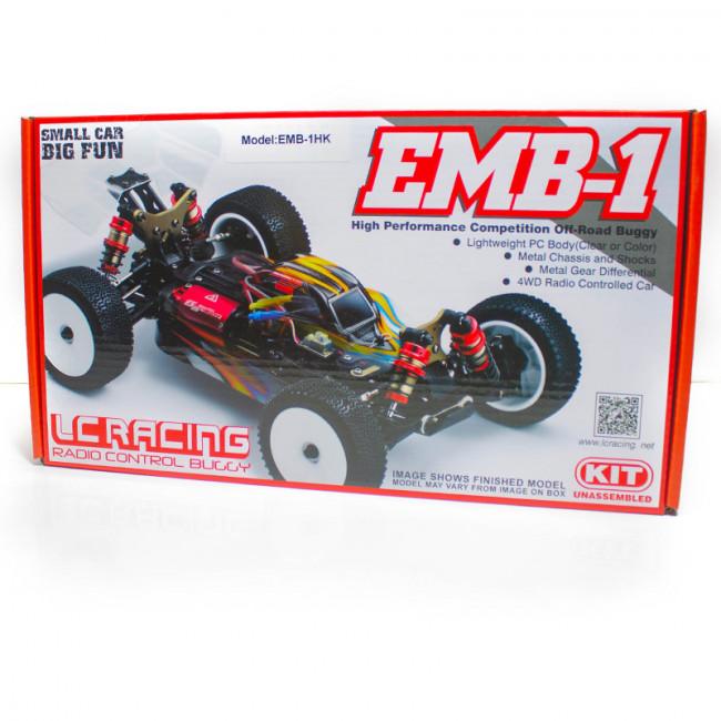 COCHE BUGGY 1/14 LC RACING EMB-1H KIT DE MONTAJE AMARILLO Y NEGRO