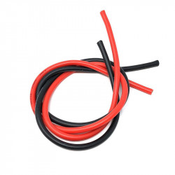 20CM ROJO + 20CM NEGRO CABLE SILICONA 12AWG