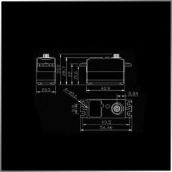Servo Digital KM4409MD Low Profile 9Kg y 0.11sec Piñones metal