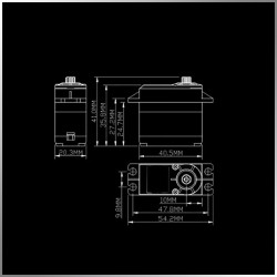 Servo Digital KM5308MDHV Brushless 8,53KG 0,035SEC HV
