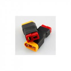 CONECTOR CONVERTIDOR XT60 MACHO A T DEAN HEMBRA (2 PCS)