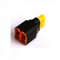 CONECTOR EN PARALELO 2 XT60 MACHO A XT60 HEMBRA (2 PCS)