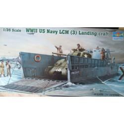 MAQUETA WWII US NAVY LCM 3 LANDING CRAFT ESCALA 1:35