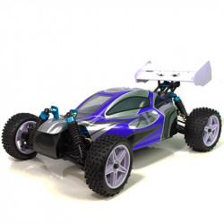 Coche RC XSTR Pro HSP 1/10 Brushless Lipo 2,4Ghz 4WD Azul-Plata