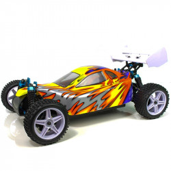Coche RC XSTR Pro HSP 1/10 Brushless Lipo 2,4Ghz 4WD Azul-Am-Pl