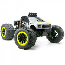 SÚPER MONSTER TRUCK E6 RAPTOR 1/8 BRUSHLESS BLANCO-AMARILLO(LISTO PARA CORRER)