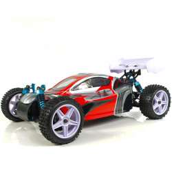 Coche RC XSTR Pro HSP 1/10 Brushless Lipo 2,4Ghz 4WD Rojo-Plata
