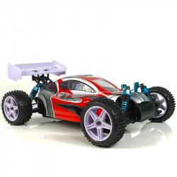 Coche RC XSTR Pro HSP 1/10 Brushless Lipo 2,4Ghz 4WD Rojo-Plata