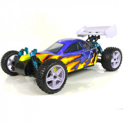 Coche RC XSTR Pro HSP 1/10 Brushless Lipo 2,4Ghz 4WD Azul-Amarillo