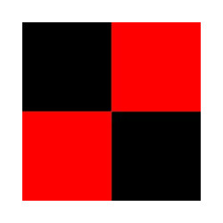 Oracover Cuadros Rojo Negro