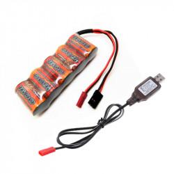 CONJUNTO BATERÍA 6V 1600MHA NIMH + CARGADOR USB