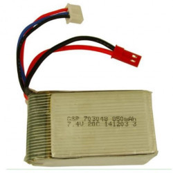 BATERÍA LIPO 7.4V 850MHA 25C (25 x 10 x 59mm) CONECTOR BEC (JST)
