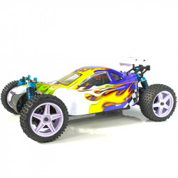Coche RC XSTR Pro HSP 1/10 Brushless Lipo 2,4Ghz 4WD Azul-Am-Bl