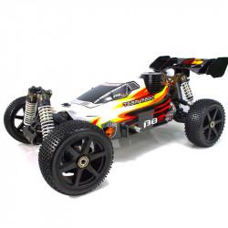 ❤️ B8 JR BUGGY NITRO 1/8 EXTREME MOTOR 25 BLANCO-ROJO (LISTO PARA CORRER)