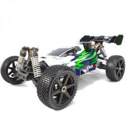 ❤️ B8 JR BUGGY NITRO 1/8 EXTREME MOTOR 25 BLANCO-VERDE (LISTO PARA CORRER)