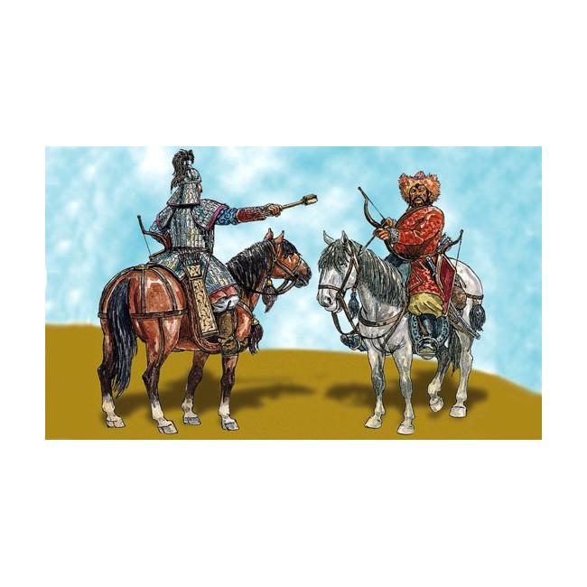 Maqueta Guerreros Mongoles escala 1/32