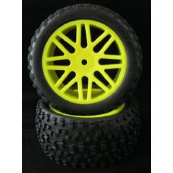 Ruedas Coche RC Buggy Delanteras 1/10 Universal amarillas