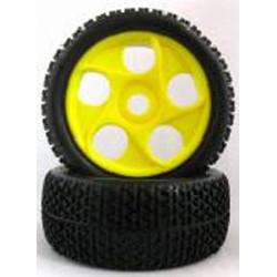 Ruedas Coche RC Buggy 1/8 Universales amarillas