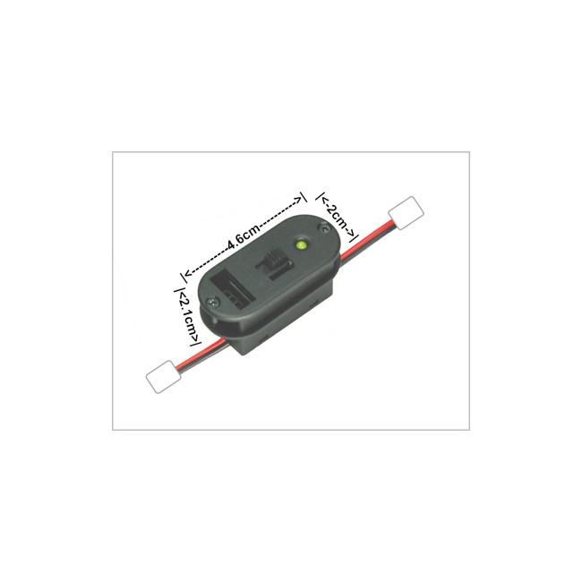 Interruptor con toma de carga e indicador