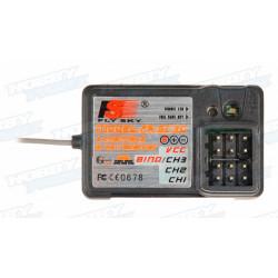 Emisora RC 3 Canales FS-GT3C Fly Sky 2,4Ghz 10 Memorias