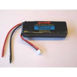 Batería Lipo 11.1vol y 2200mAh 20C Descarga Dynam RC