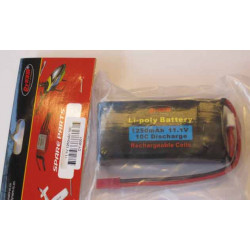Batería Lipo 11.1vol y 1250Mha 10C Descarga