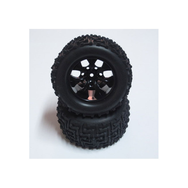 Ruedas Big Foot 1/10 SST Negras Truck Par