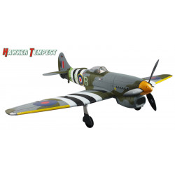 Avión RC Hawker Tempest Warbird PNP Dynam 5 Canales